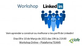 WORKSHOP ONLINE - LINKEDIN - ESGOTADO